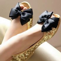 Bridal Wedding Black Ribbon Bow Butterfly Shoe Clips From White