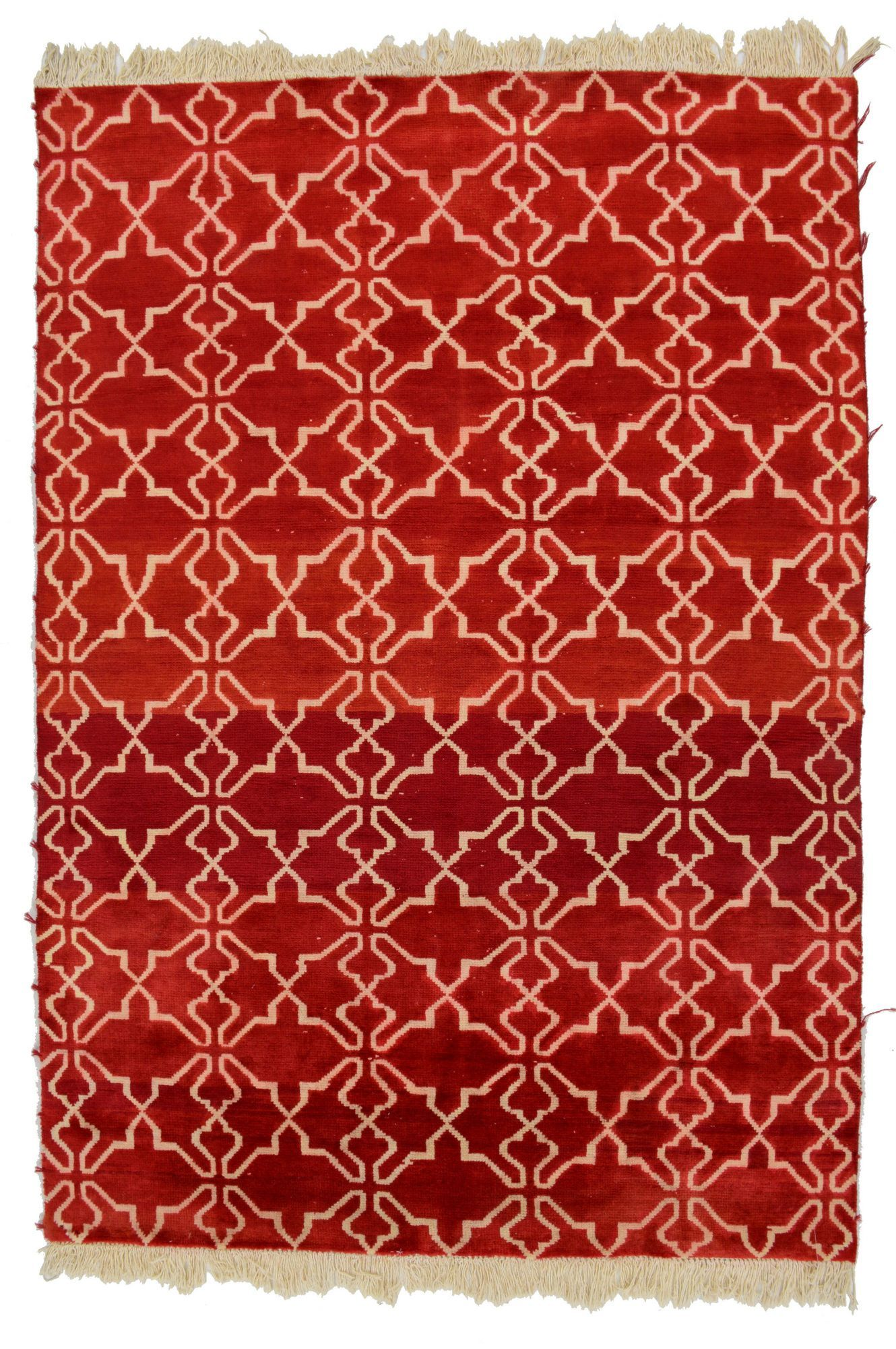6 X 8 Red Cream Contemporary Rug Modern Area Rugs Rugs Modern Rugs