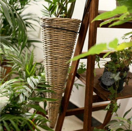 #Garden #Home living#Outdoor gardening#Planter pots#Garden art#Gardening ideal#handwoven basket#fairy garden#gardener gift #garden decor#home decor #Vintage