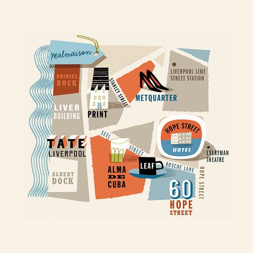 Illustration map of Liverpool by Tania Willis Maps Pinterest