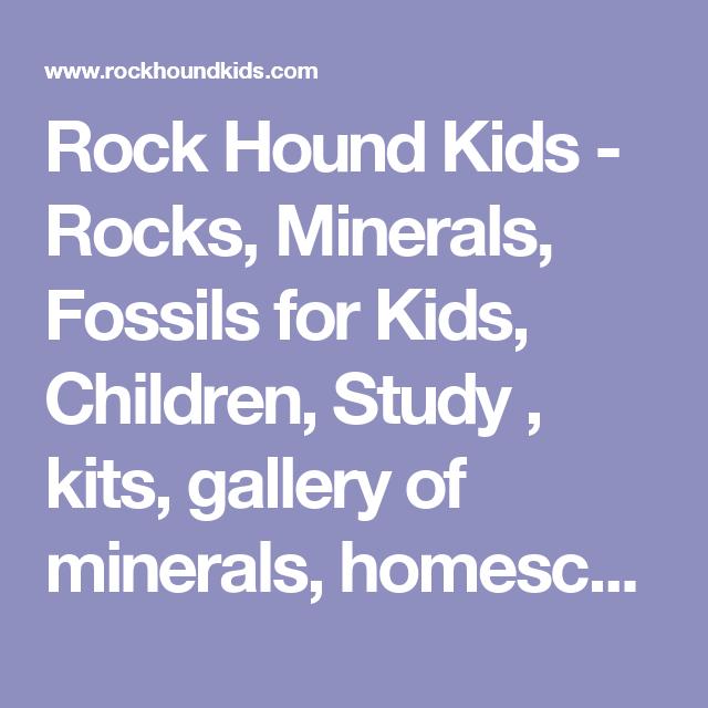 Rock Hound Kids - Rocks, Minerals, Fossils for Kids, Children, Study ...