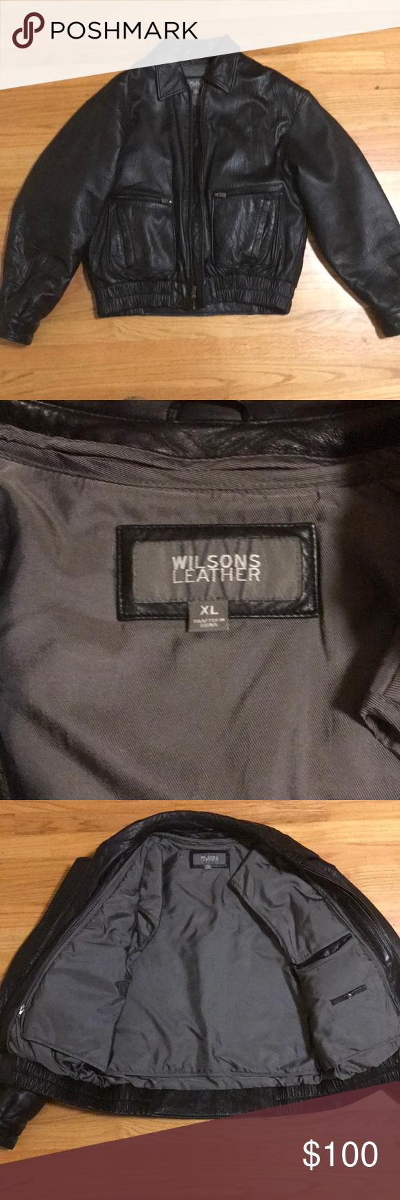 XL Wilsons Leather Bomber Jacket Leather bomber jacket