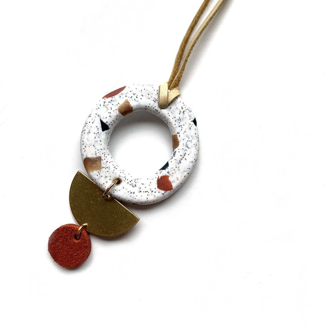 Terrazzo pendant necklace