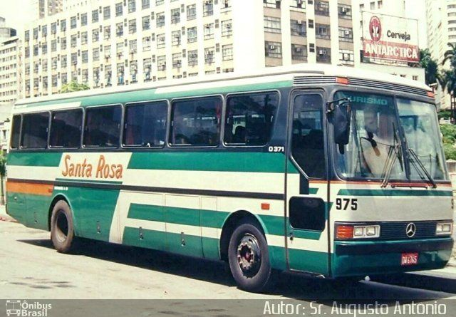 Ônibus Da Empresa Santa Rosa, Carro 975, Carroceria Mercedes Benz Monobloco  O