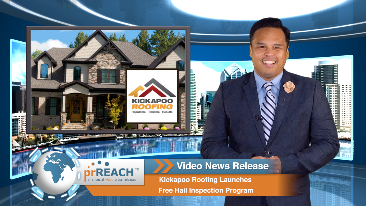 Kickapoo Roofing Launches Free Hail Inspection Program  http://www.prreach.com/kickapoo-roofing…spection-program/
