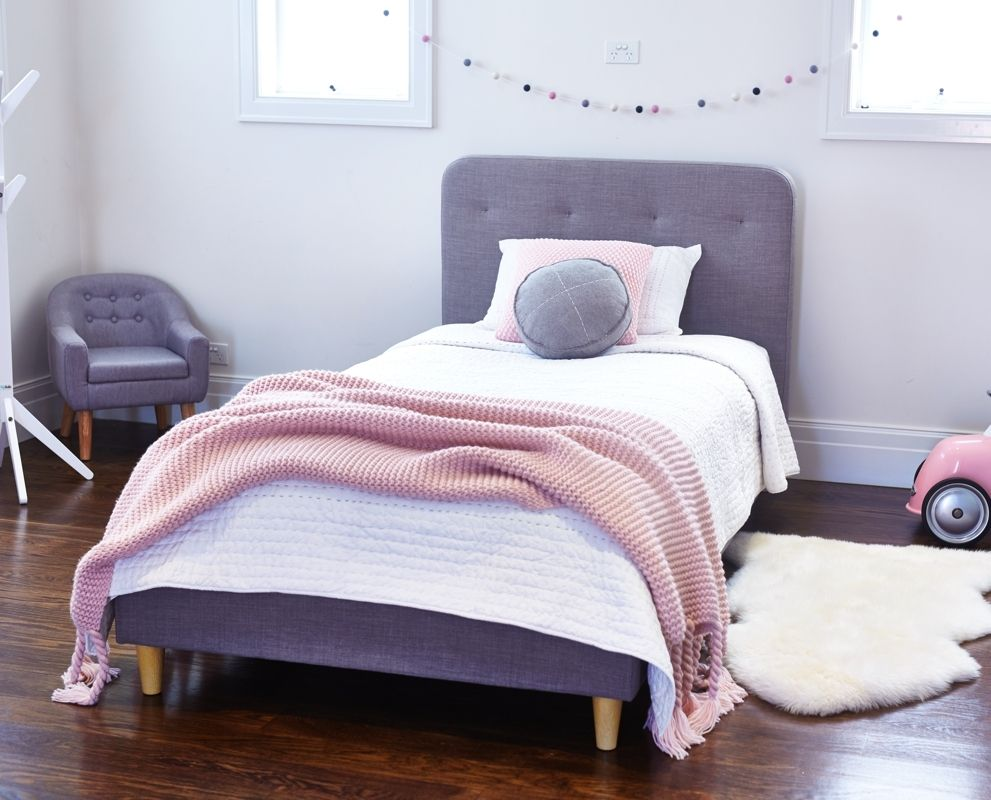 Scout single upholstered bed king harlow king single for Harlowe bed