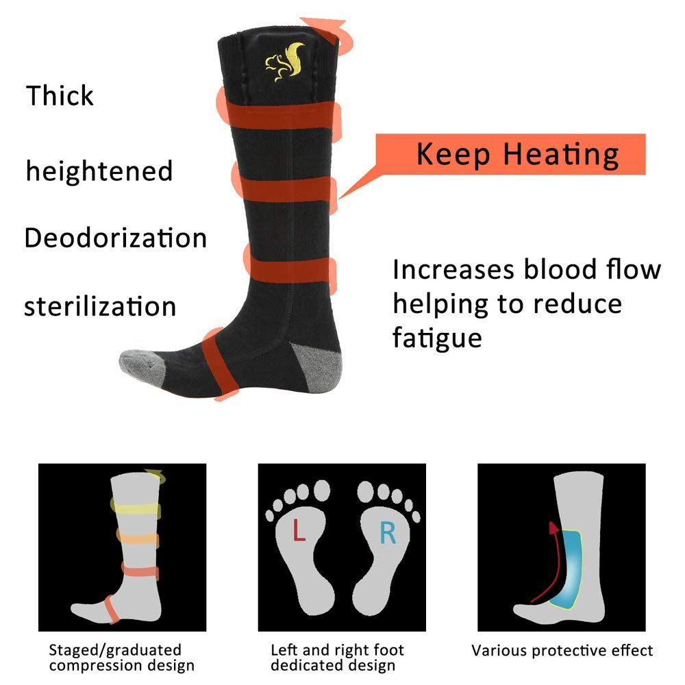 Electric Socks Cotton Material Breathable Brisk Drying Versatile Thickened Electric Modules Utilizing Slender Delicat In 2020 Warm Feet Foot Socks Winter Warmers