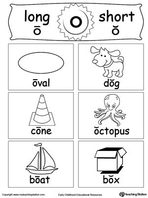 Short And Long Vowel Flashcards O Long Vowels Worksheets And Phonics
