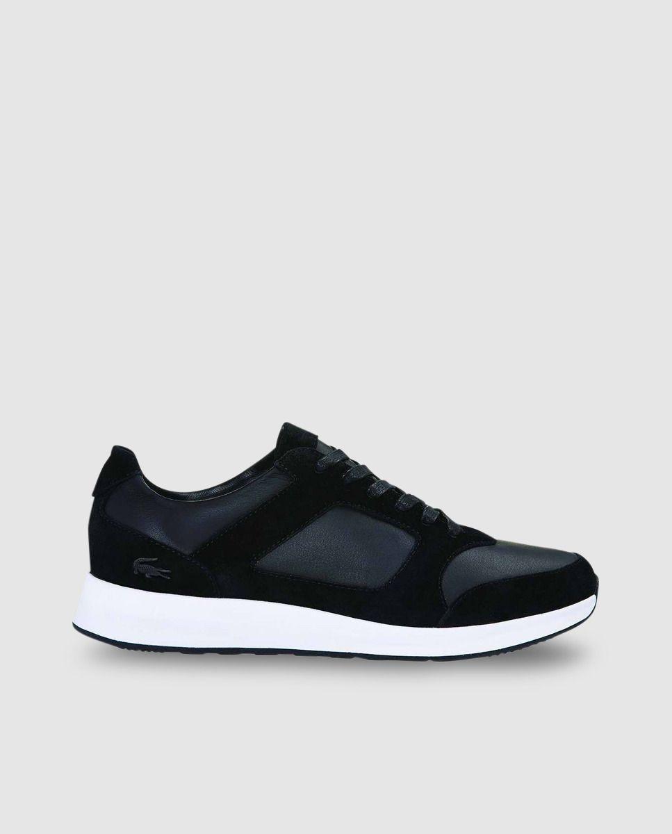 a6543f6827dee Zapatillas deportivas de hombre Lacoste de piel negros