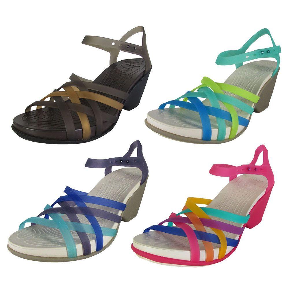 95f06210ebbc Crocs Womens Huarache Wedge Sandal Shoes