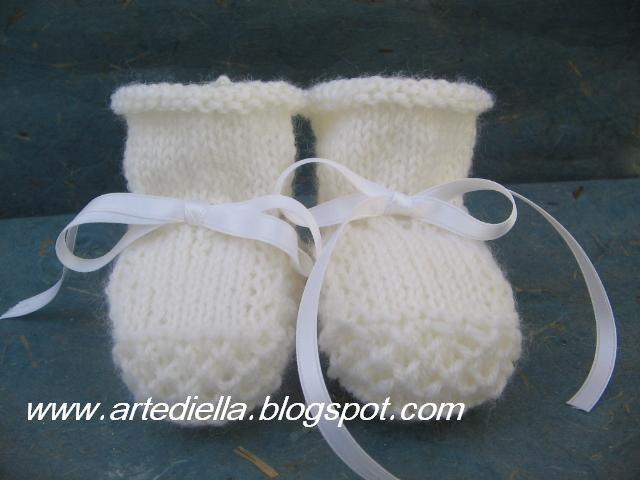 Scarpine Ferri Knittery Knitted Booties Baby Booties Knitting