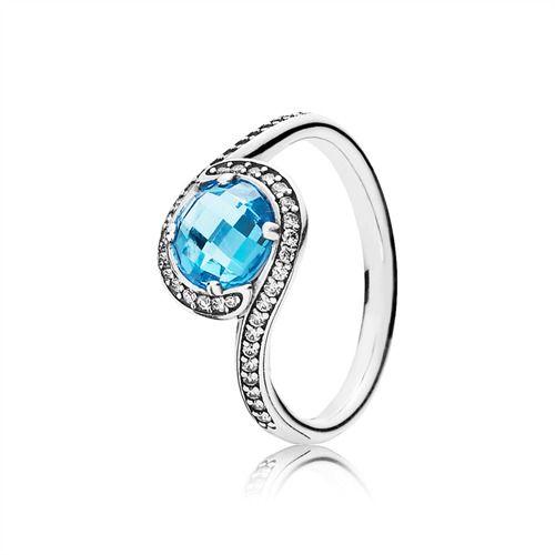 Pandora ringe mit blauem stein