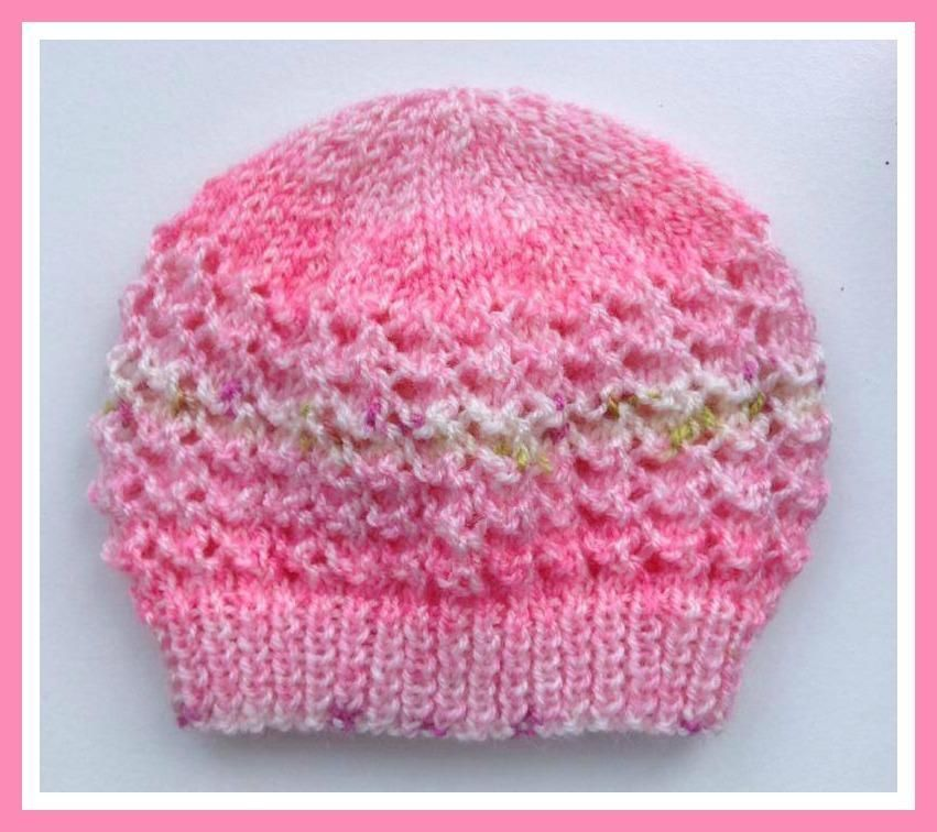 Looking for your next project? You\'re going to love Lacey Baby Hat ...
