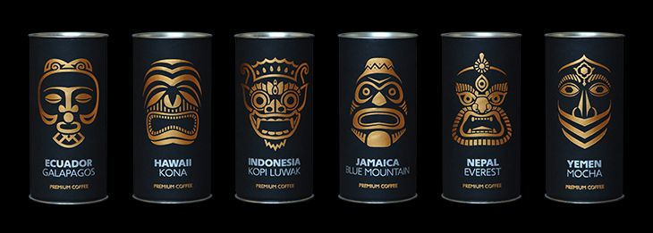 Exotic Coffee Collection packaging design by Artemov Artel.