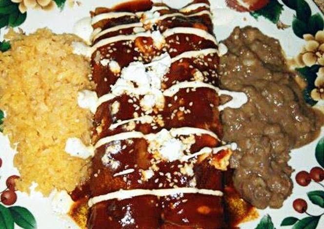 Mole Poblano Shrimp Enchiladas' Recipe -  Let's cook Mole Poblano Shrimp Enchiladas' by yourself!