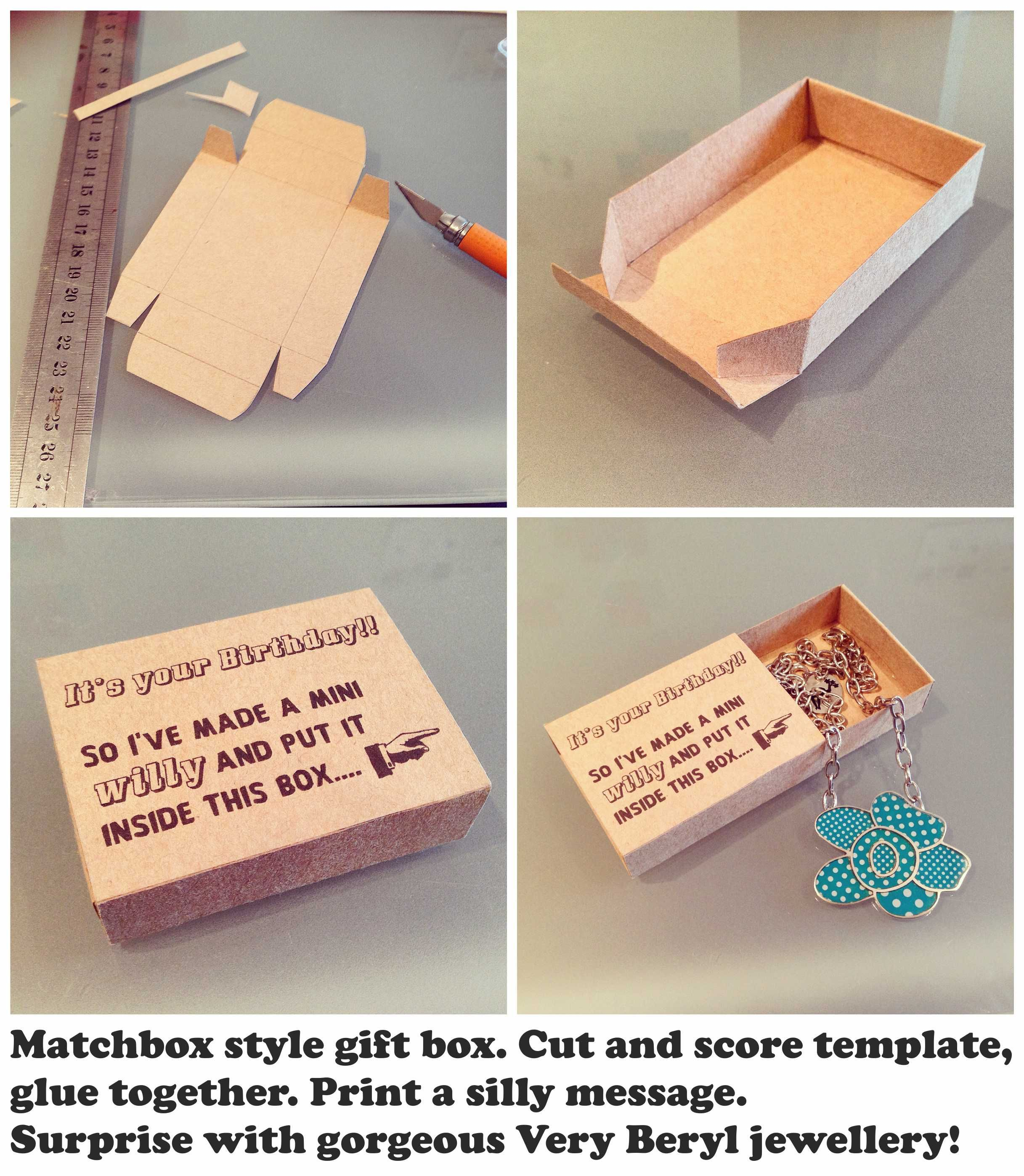 My home made matchbox style gift box. I\'m giving one of my Very ...