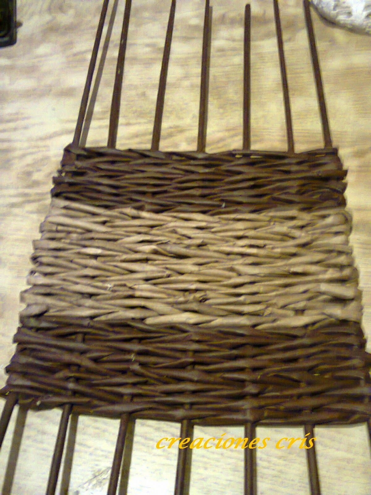 Curso de cester a con peri dicos o falso mimbre fondo - Cesteria con papel periodico paso a paso ...