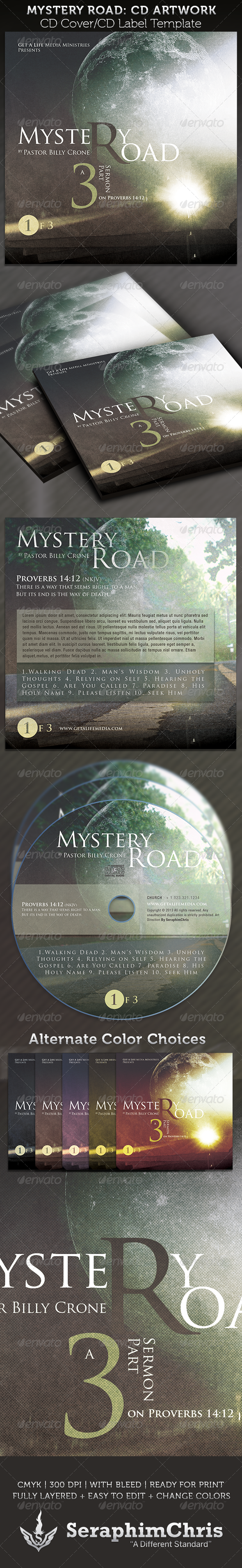 Mystery Road CD Cover Artwork Template $6.00