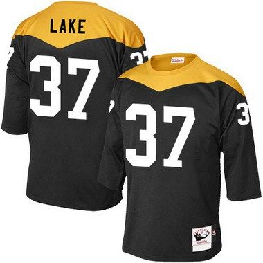 Men's Pittsburgh Steelers #37 Carnell Lake Black Retired Player 1967 Home Throwback NFL Jersey