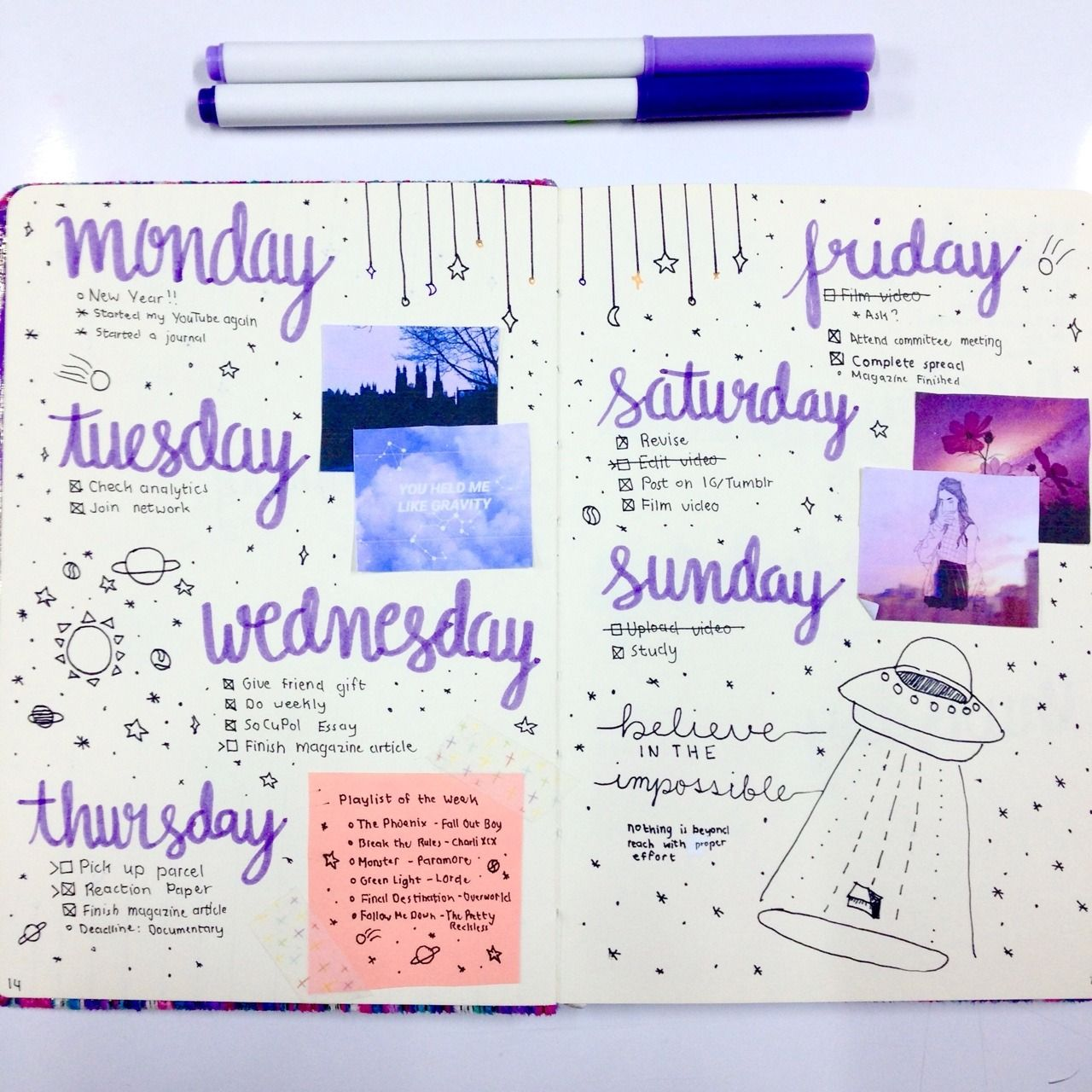 Pin by marleigh a on + Bullet Journal | Bujo bullet journal, Bullet journal  week, Bullet journal