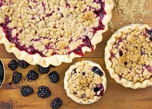 A mixed-berry pie from Porch Pies in Los Angeles, CA (Credit: Nathan Morgan)