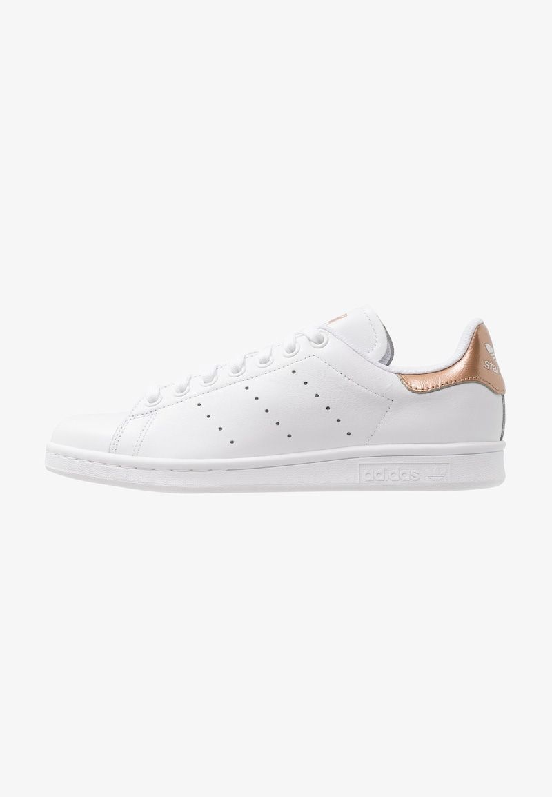 STAN SMITH - Trainers - footwear white/rose gold metallic ...