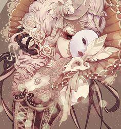 Anime Masquerade Ball Gown Google Search Anime Artwork Anime Art