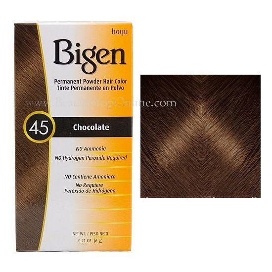 Bigen Permanent Powder Hair Color 45 Chocolate Hair