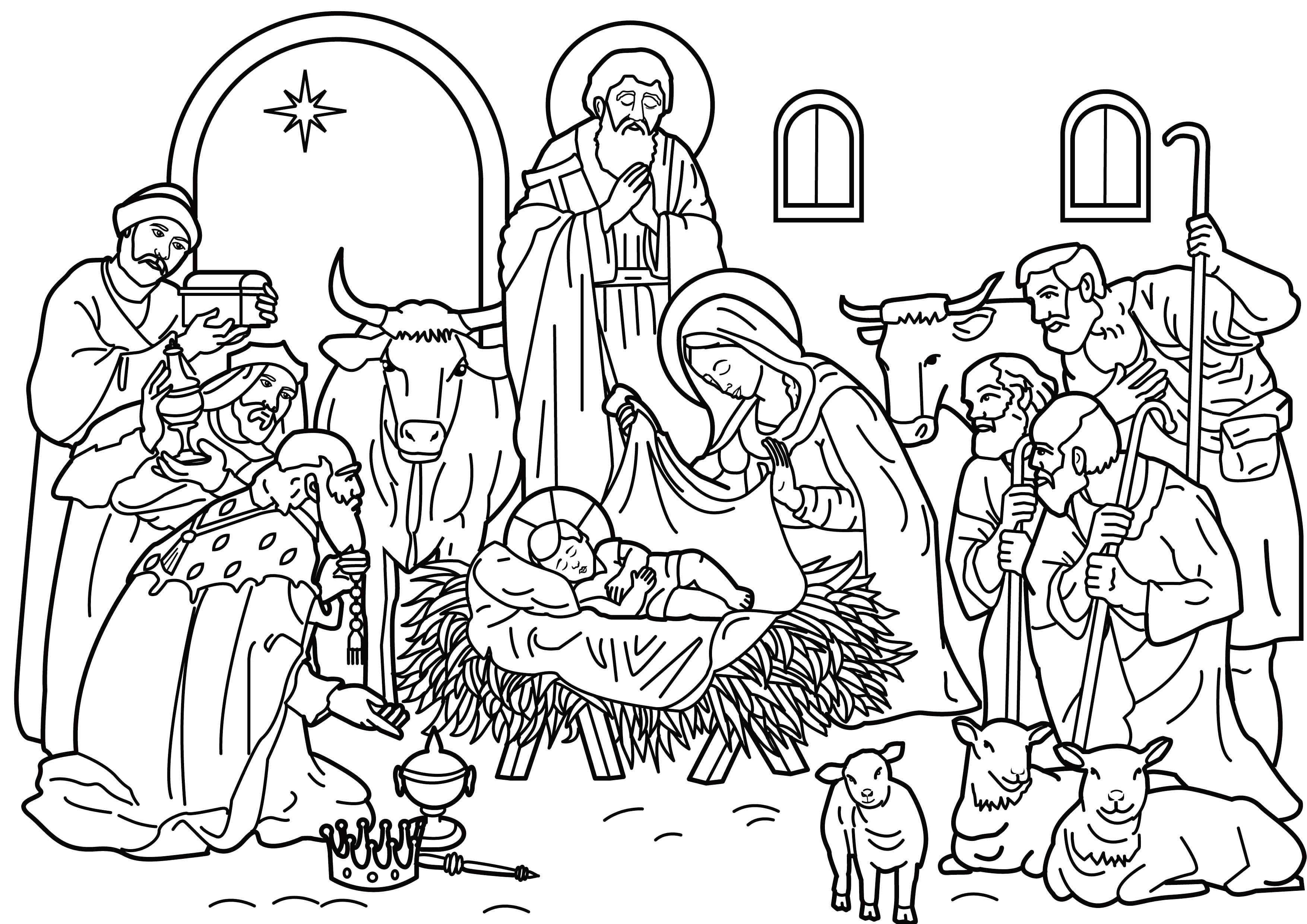 Uniek Kleurplaten Kerst Jezus Kleurplaat Jezus Kerststal