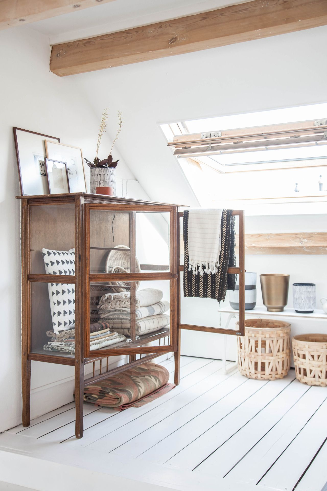 Light attic home office of Holly Marder Follow Gravity Home: Blog ...