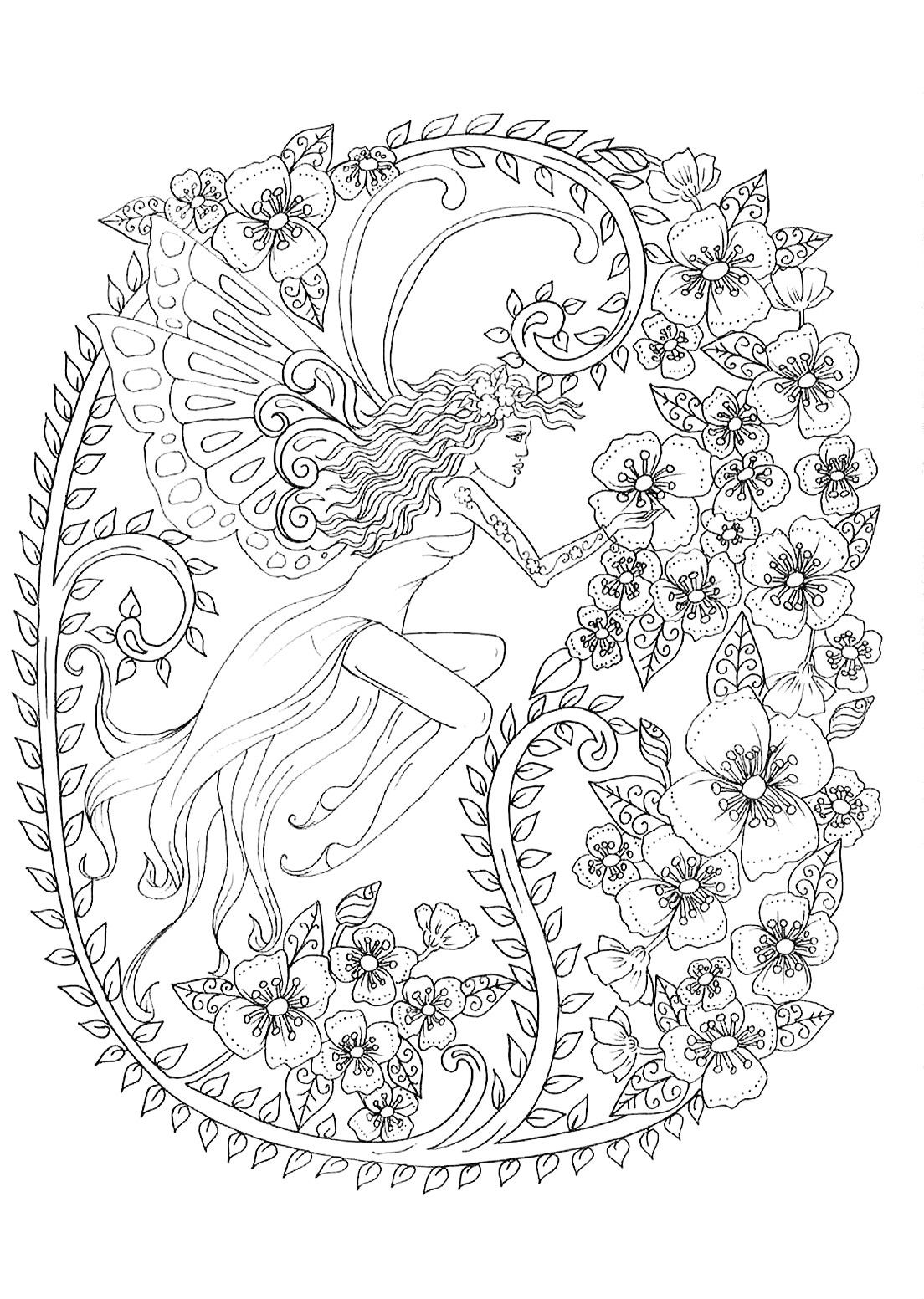 Pin By Elisabeth Quisenberry On Color Her Pretty Angel Coloring Pages Cute Coloring Pages Cool Coloring Pages