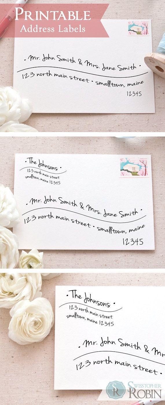 Hand-Lettered Wave Address Labels Bundle | Printable Mailing Labels ...