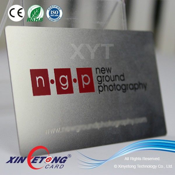 High-end polishing metal business card / stainless steel card with ...