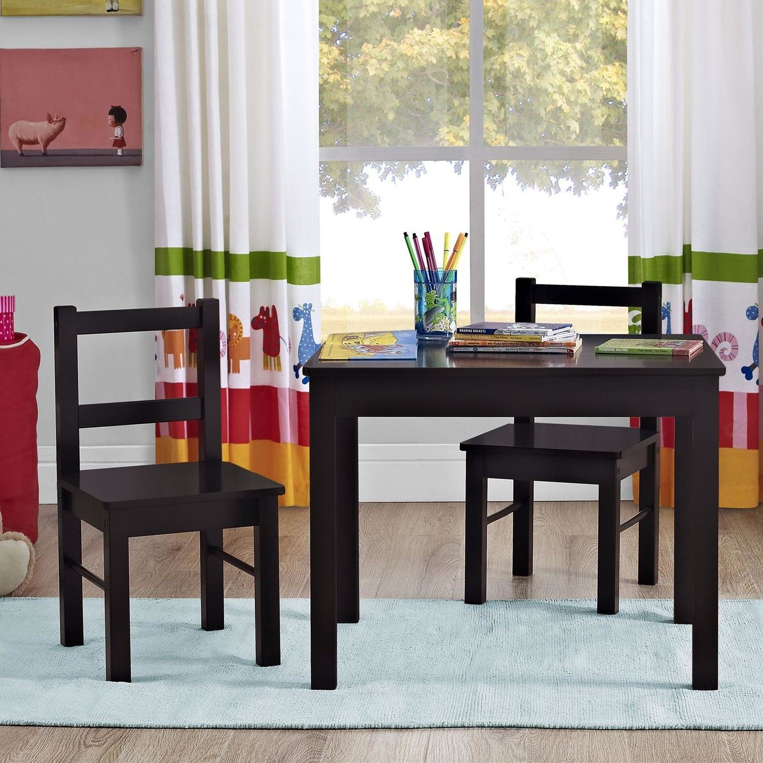 Kids 3 Piece Table & Chair Set Products Pinterest