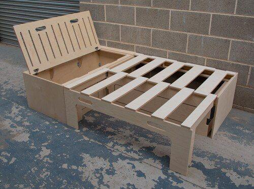 Photo of L Shaped Campervan Bed