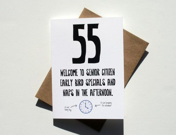 Funny 55th Birthday Card Single Envelope GC0141