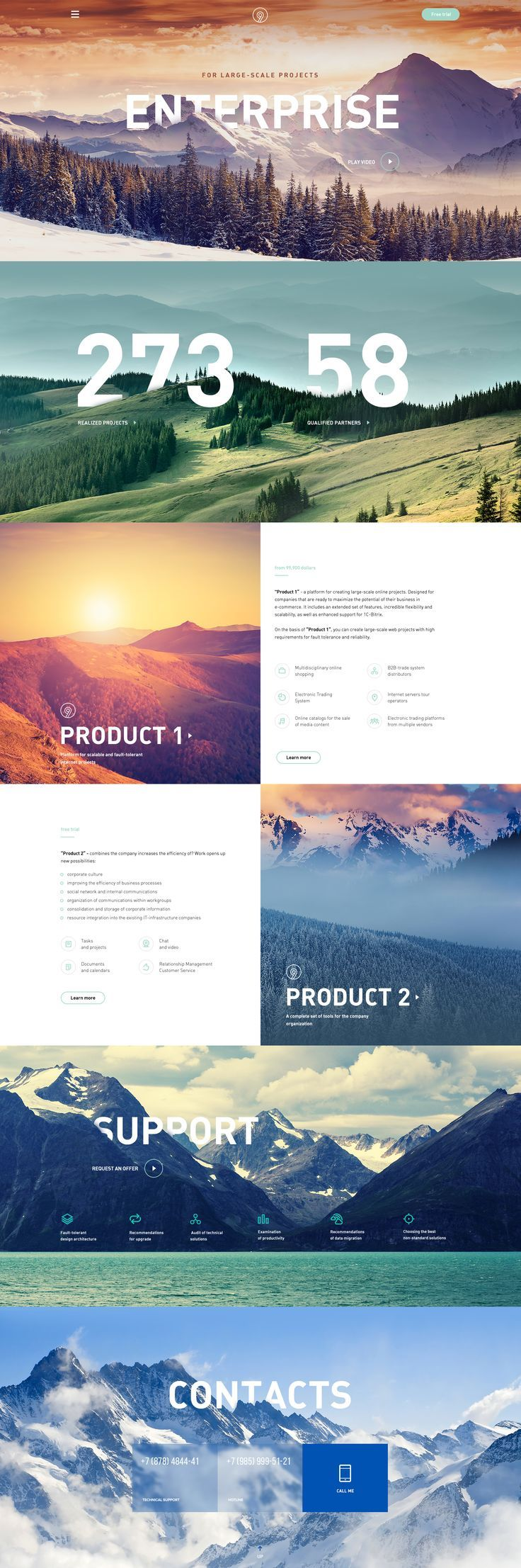 Concept of enterprise site by Nikolay Ivanov for AIC