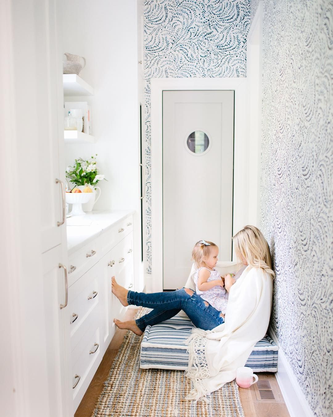Morning Moments Priano Wallpaper Hallway Inspiration Via