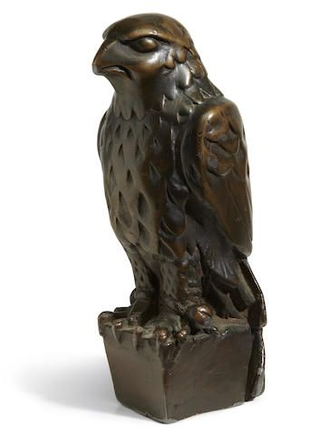 The iconic lead statuette of the Maltese Falcon from the