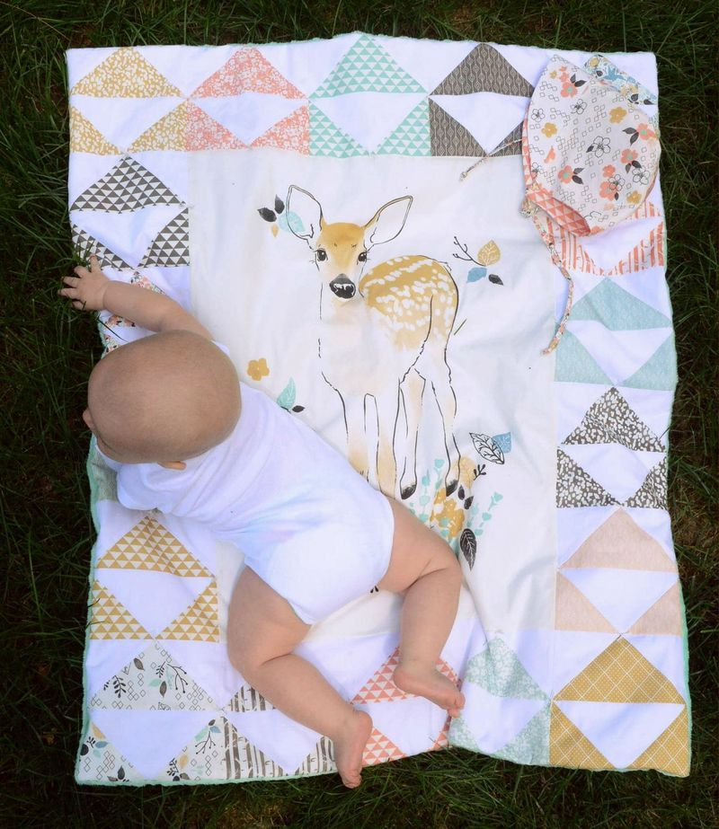 Panels are wondeful for baby quilts but dont overquilt as they lose their softness. #babysets