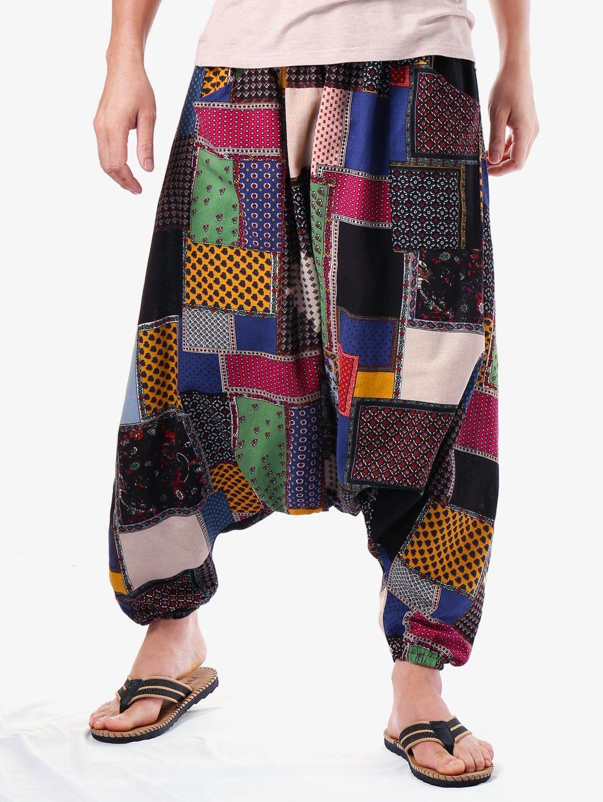 191505ceb Casual Tribal Geometric Print Harem Pants - multicolor ONE SIZE ...