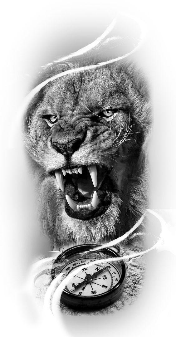 أسماء الاسد Lion Art Tattoo Lion Tattoo Sleeves Lion Head Tattoos