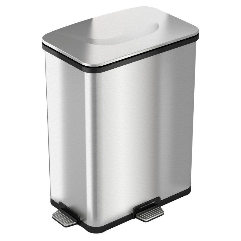 Halo Pedal Sensor Stainless Steel 13 Gallon Trash Can Trash Can