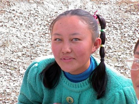 Girl From Kazakhstan People With Blue Eyes Blonde Hair Blue