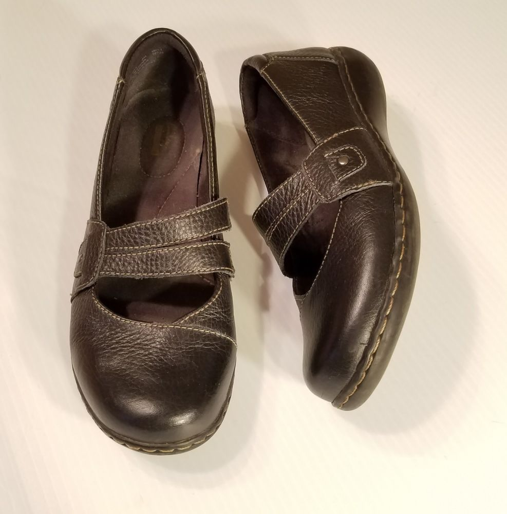 Clarks Bendables Women's size 8M Casual Mary Jane Black Leather Slip-on  Loafers