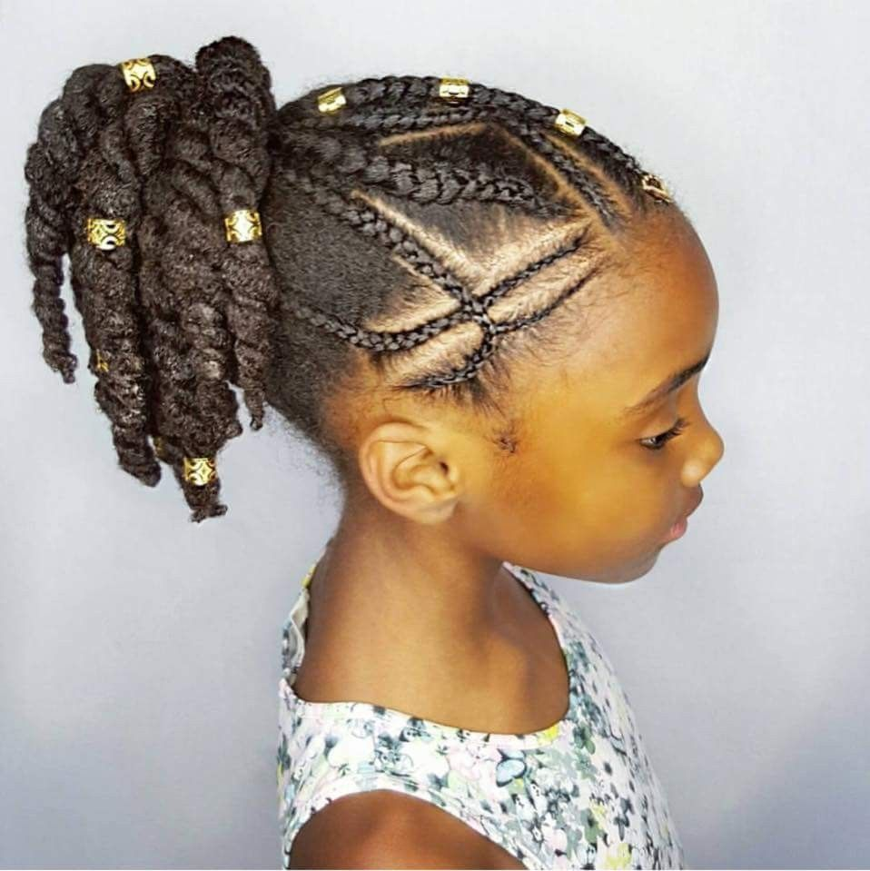 Cute Braid And Twist Style Natural Hair Styles Kids Hairstyles
