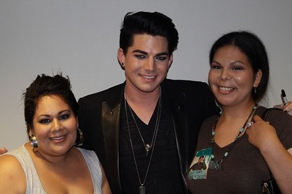 Adam Lambert & Xochitl Barajas (@xbarajas).  Pic taken on July 30th, 2010 during the San Diego stop of the GlamNation tour.