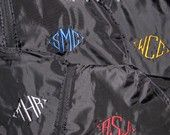 Monogrammed Garment Bag-Great for Graduation, Groomsmen or Bridesmaids. $24.00, via Etsy.