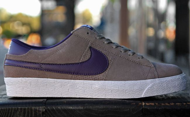 Nike SB Blazer Low - Iron Grey   Quasar Purple  e63d771211cc