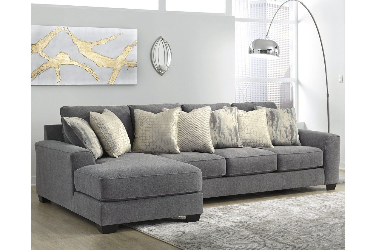 Castano 2 Piece Sectional With Chaise Ashley Furniture Homestore Couch With Chaise Gray Sectional Living Room Grey Sectional